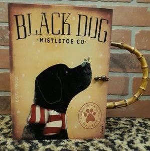 Handbags - Black Dog Lab Mistletoe Wood Box Handbag ORIGINAL